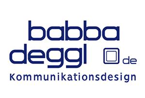 Logo babbadeggl Kommunikationsdesign Claudia Rozsa. Webdesign Gamedesign Graphicdesign