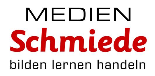grosses Logo der Medienschmiede